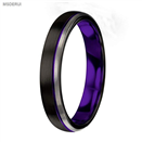 MTD0043 4mmTungsten Carbide Ring Purple Black Matte