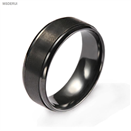 BR1008  Men's Classic Black Zirconium Wedding Ring