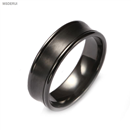 BR1009  Men's Classic Black Zirconium Wedding Ring