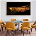 现代简约金龙鱼餐厅墙上装饰画