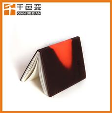 千色变可定制LOGO纹路温变笔记本厂家直销变色记事本紫变红