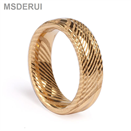 Classic Wedding Rings Gold Damascus Simple Design Ring DM-011