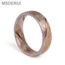 Classic Wedding Rings Rose Gold Damascus Simple Design Ring DM-012