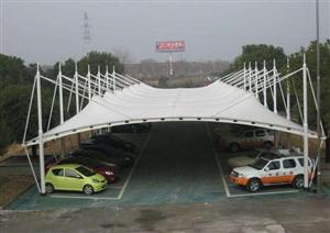 张家口膜结构汽车车棚 自行车棚 景观张拉膜结构工程 膜结构厂家