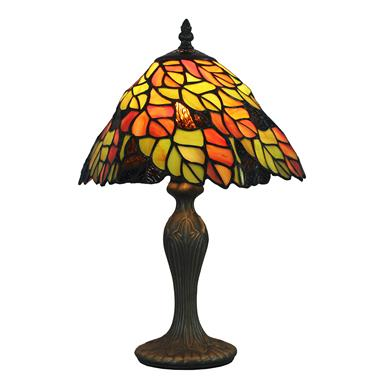 TL080025 20CM diameter twisted leaves tiffany table lamp stained glass table light