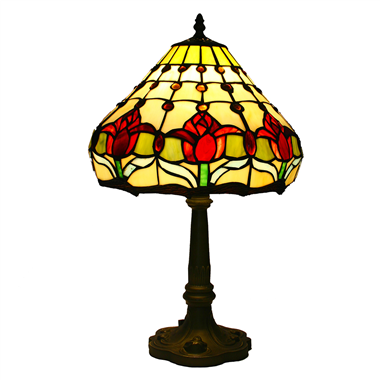 TL120005-tiffany lamp tulip flower tiffany glass table lighting for home