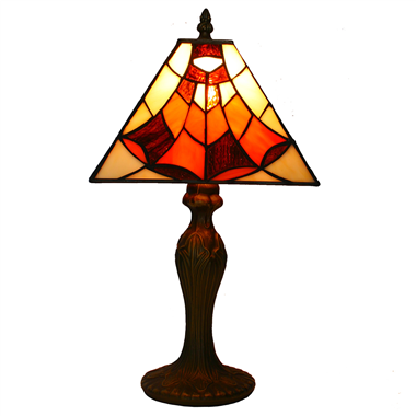 TL080004-Square Tiffany Table Lamp polyresin lamp base Modern table light