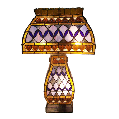 CT13001-tiffany cluster table lamp stained glass desk light for bedroom glass lighting fixture