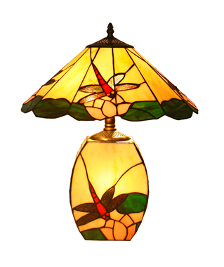 CT16001-dragonfly tiffany cluster lamp