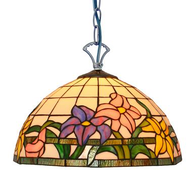 PL120003 flower glass stained modern tiffany pendant lamp