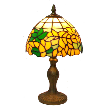 TL080007-sunflower table lampes tiffany glass table lighting zinc alloy/polyresin tiffany lamp base