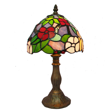 TL080008-tiffany lamp flower stained glass table lighting tiffany desk lamp