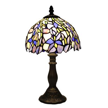 TL080010-8 inch Floral Tiffany Iris Table Lamp Stained Glass modern bedside desk light art decor nov
