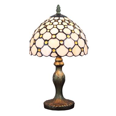 TL080012-8 inch Raindrop Tiffany Table Lamp Stained Glass Jeweled modern bedside desk light art deco