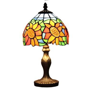 TL080013-8 inch Tiffany Style Sunflower Table Lamp  20cm Stained Glass Desk Light