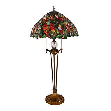 TL160001-16 inch leaf tiffany tablel lamp decorative table light for bedroom stained glass lampshade