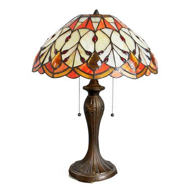 TL160002-16 inch hand made stained glass tiffany table lamp decorative lighting fixture home decor