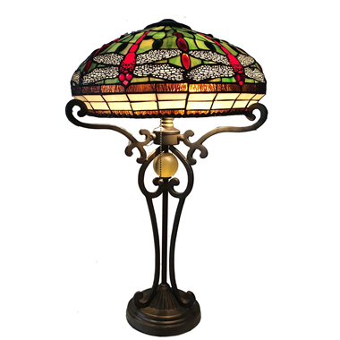 TL160004-Stained Glass Lamp shade Tiffany Style Baroque Table Lamp