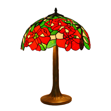 TL160007-16 inch flower glass lamp shade table light