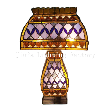 CL130001-tiffany cluster table lamp stained glass desk light for bedroom glass lighting fixture