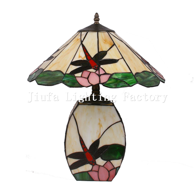 CL1600-01Dragonfly Tiffany style Double Lit Table Lamp