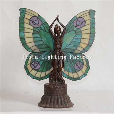 TLC00057-tiffany style Butterfly Lady Accent Lamp