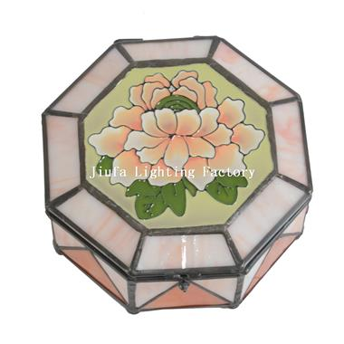 Stained Glass Square Jewelry Box