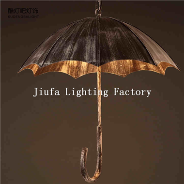 umbrella pendant light iron hanging lamp traditional style for pub