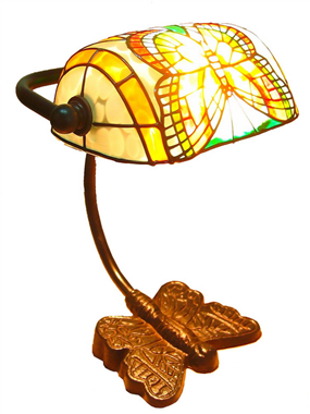 6 inch butterfly tiffany bank lamp BL060002