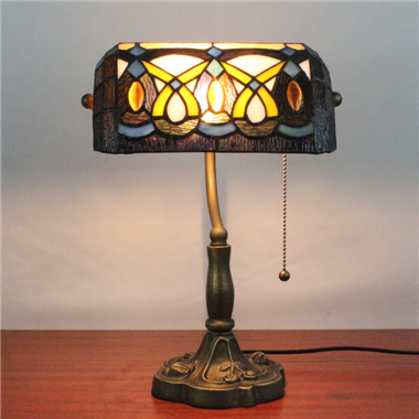 9 inch tiffany table lighting bank lamp BL090007