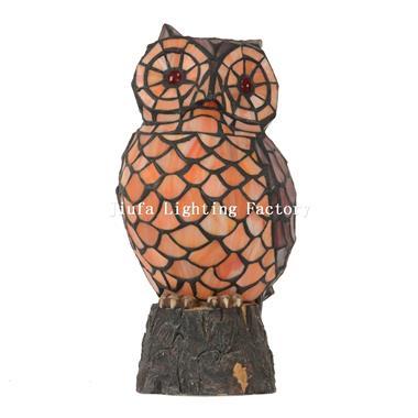 TLC00066 Owl tiffany table lamp animal accent lamp