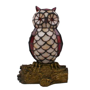 TLC00064 Animal lamp Owl tiffany table lamp  accent lighting