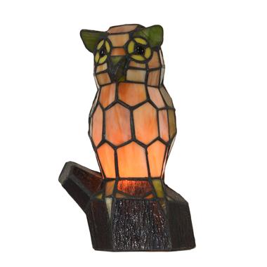 TLC00067 Animal lamp Owl tiffany table lamp