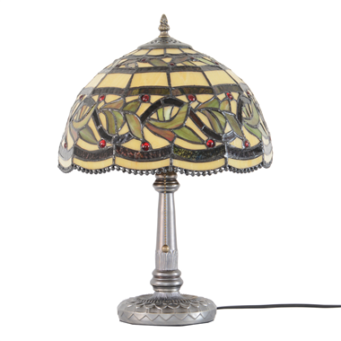 "12"" Tiffany style stained glass table lamp"