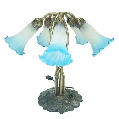 5 lights lily tiffany wall lamp color glass lampshade