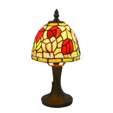 TL060002-tulip tiffany lamp stained glass table light