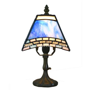 TL060003-tiffany square mini mozaic lamp bedside table light