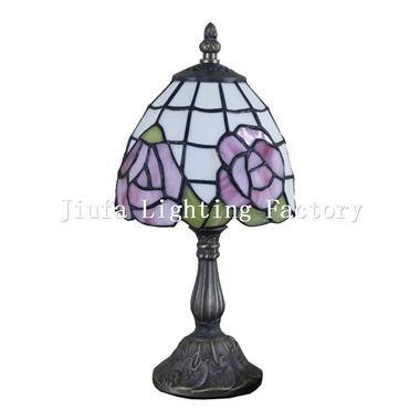 TL060009-rose design tiffany lamp bedside table light