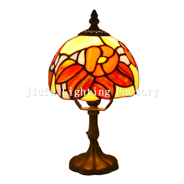 TL060011-small tiffany table light stained glass lamp