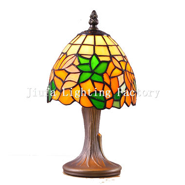 TL060012-leaded glass table lamp stained glass light