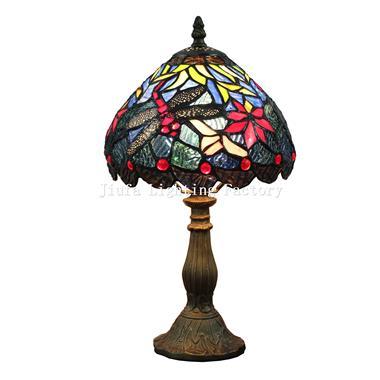 TL080017-dragonfly tiffany table lamp resin lamp base
