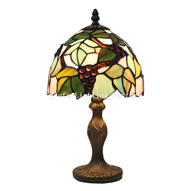 TL080021-grape stained glass lamp shade table light