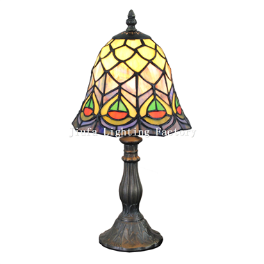 TL080024-peacock tiffany design lamp glass for lighting