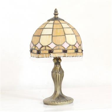 TL080033-jeweled stained glass study lamp