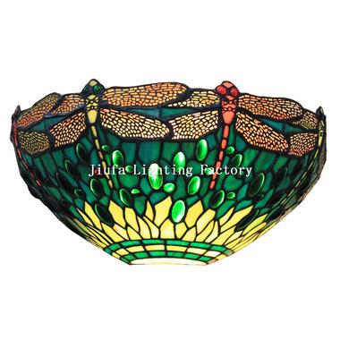 WL120007-dragonfly tiffany wall light stained glass wall sconce lamp