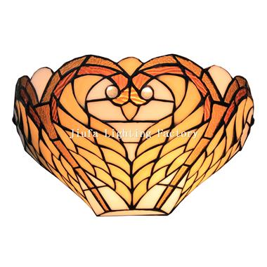 WL120002-swan tiffany wall lamp