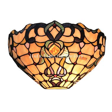 WL120004-stained glass wall lamp