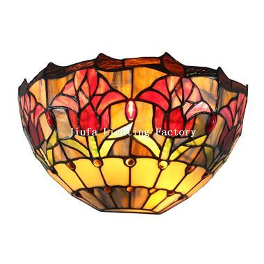WL120013-tulip tiffany wall light