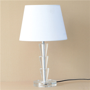 TRF100010 10 inch Table Lamp crystal with fabric lampshade modern desk light for bedroom novelty lig
