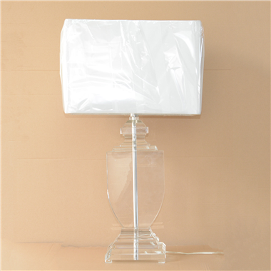 Narrow Urn Crystal Table Lamp with fabric lampshade modern table light for bedroom trophy novelty li